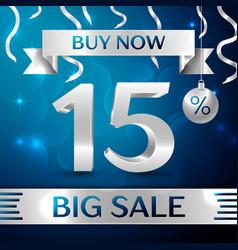 Big sale buy now fifteen percent for discount vector