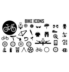 Bike bicycle fitness exercise icon vector