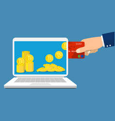 Bitcoin exchange concept vector