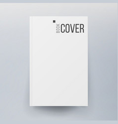 blank cover book realistic vector image