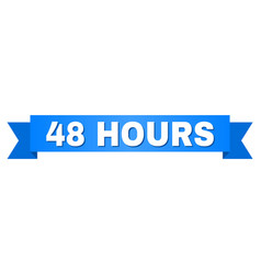 Blue stripe with 48 hours caption vector