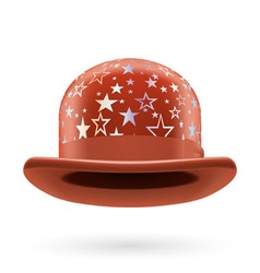 Brown starred bowler hat vector image