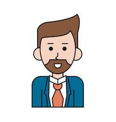 Businessman cartoon icon image vector