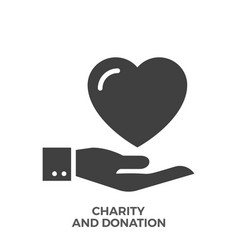 Charity and donation glyph icon vector