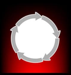 cirkular arrows vector image