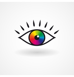 Colorful eye icon vector image