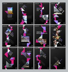 creative brochure templates with colorful triangle vector image