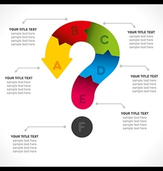 creative question mark info-graphics concept vector image