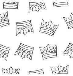 Crown theme design pattern collection vector