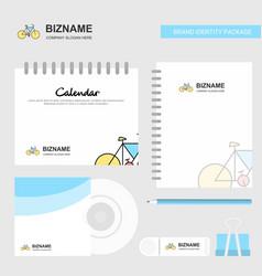 Cycle logo calendar template cd cover diary and vector