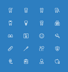 dental line icons vector image