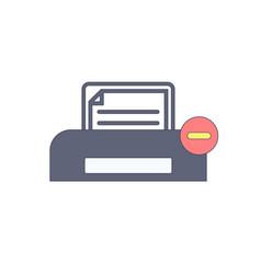 document paper print printer stop icon vector image