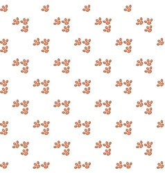 Dog prints pattern cartoon style vector