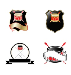 Drum Emblems vector image