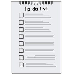 Empty to do list vector
