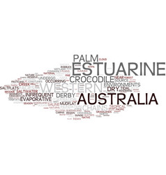 Estuarine word cloud concept vector