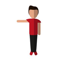 Faceless person icon image vector