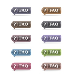 FAQ Symbols set eps10 vector image