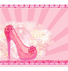 floral shoes poster vector image
