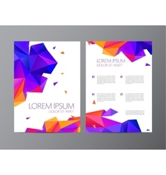 Flyer orange and purple brochure abstract vector