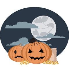 funny halloween nightsky vector image
