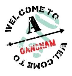 Gangnam stamp rubber grunge vector