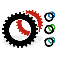 gear cogwheel industry technology maintenance vector image
