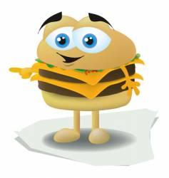 hamburger face vector image