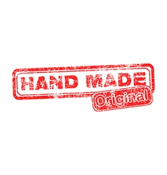 Hand Made Original red grunge rubber stamp vector image vector image