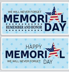 Happy memorial day greeting card flyer vector