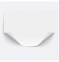 horizontal empty paper sheet on transparent vector image