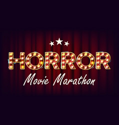 Horror movie marathon background cinema vector
