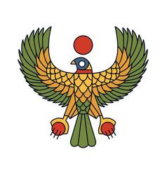 horus falcon bird egyptian logo icon vector image