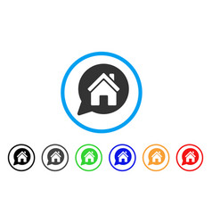 House mention rounded icon vector