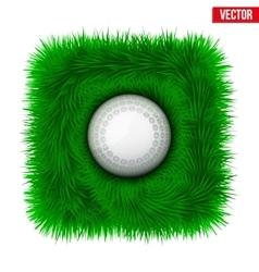 Icon Hockey ball on green grass vector