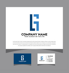 Initials logo with a business card vector