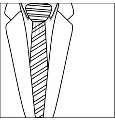 Isolated necktie with jacket design vector