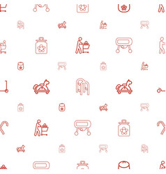 kids icons pattern seamless white background vector image