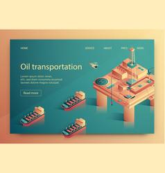 lettering oil transportation vector image