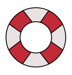 lifeguard float isolated icon vector image