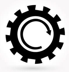 Machine gear wheel symbol vector