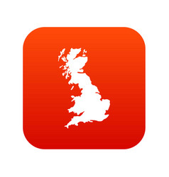 map of great britain icon digital red vector image