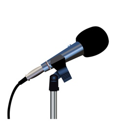Microphone cord vector