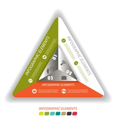 Modern infographic template with triangle vector image