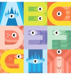 Monster font A I vector