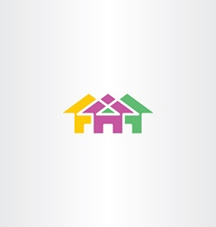 Neighborhood house icon logo symbol vector