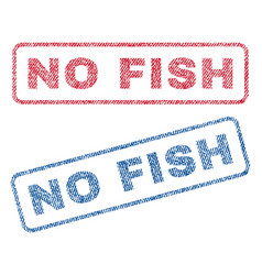 No fish textile stamps vector