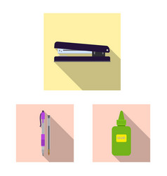Office and supply sign set vector