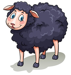 One black sheep vector image