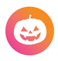 orange to pink halloween holiday pumpkin flat icon vector image